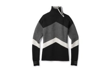00239ca6b62bb0 Smartwool Dacono Ski Funnel Neck Sweater-Women's, Black, Large,  SW000328001-L