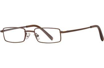 Dakota Smith Abrasion SEDY ABRA00 Eyeglass Frames - Brown SEDY ABRA004535 BN