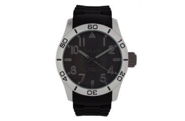 Dakota Watches Aluminum Diver, Gray Dial,Aluminum Case,Black Silicone Strap, NO 4790-8