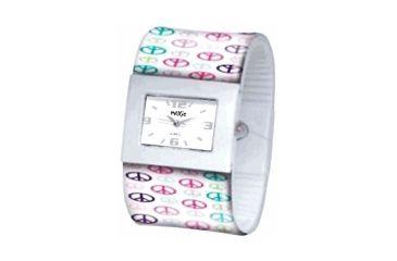 Dakota Watches Fashion Cuff, White Dial, Peace Cuff 2936-7
