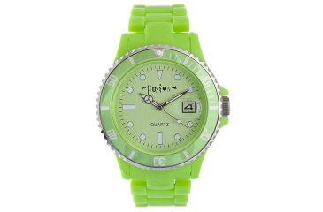 Dakota Watches Fusion Color Link, Lime Green Dial & Plastic Link Band 5545-9
