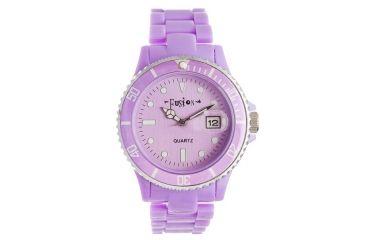 Dakota Watches Fusion Color Link, Purple Dial & Plastic Link Band 3039-9