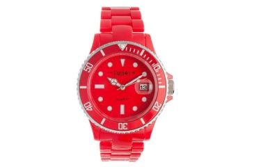 Dakota Watches Fusion Color Link, Red Dial & Plastic Link Band 3040-8