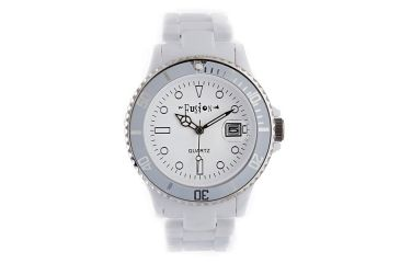 Dakota Watches Fusion Color Link, White Dial & Plastic Link Band 5542-6