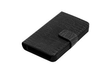 Dakota Watches Genuine Leather iPhone Case, Black Lizard Grain Leather 6213-3