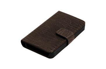 Dakota Watches Genuine Leather iPhone Case, Dk Brown Lizard Grain Leather 6219-0