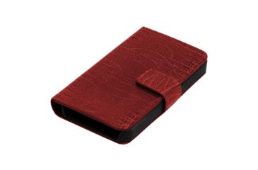 Dakota Watches Genuine Leather iPhone Case, Red Lizard Grain Leather 6214-1