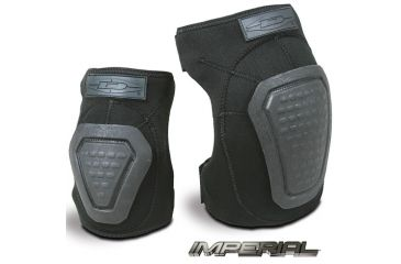 Damascus Protective Gear DNKPB Imperial Neoprene Knee Pads with Reinforced Non-slip Trion-X Caps, Black, Black, 1 size DNKPB