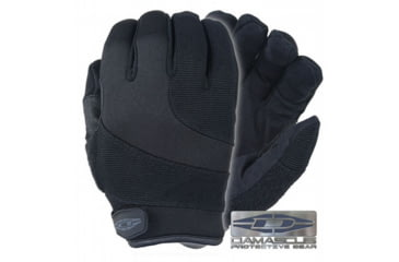 Damascus Protective Gear DPG125 Patrol Guard Gloves with Kevlar Cut Resistant Palms, Small, Black, Small DPG125SM
