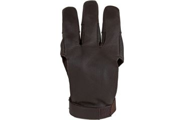 Damascus Protective Gear DWC Archery Shooting Glove, Three Finger Design Fits Either Hand, Velcro Strap, X-Large, Brown, Brown, X-Large DWCXLG
