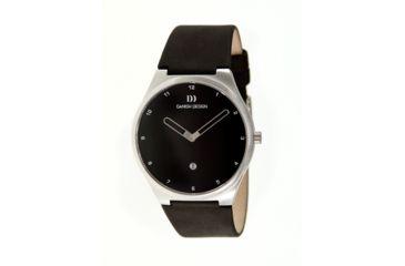 Danish Design Iq13q884 Anna Gotha Mens Watch - Black Leather Band, Pol SS Case, Black Face