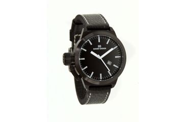 Danish Design Iq16q887 Stainless Steel Mens Watch - Black Leather Band, Black SS Case, Black Face