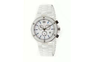 Danish Design Iq62q876 Ceramic Watch - White Ceramic Band, Pol Ceramic Case, White Face