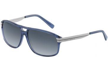 Davidoff No. 97201 Sunglasses - Grey Frame and Grey Blue Gradient Lens 97201-6378