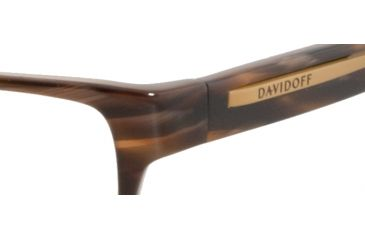 Davidoff 91008 Single Vision Prescription Eyeglasses - Brown Frame and Clear Lens 91008-6049SV