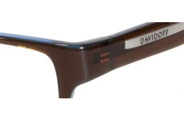 Davidoff 91008 Single Vision Prescription Eyeglasses - Brown Frame and Clear Lens 91008-6127SV
