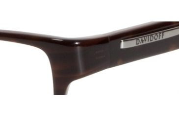 Davidoff 91008 Single Vision Prescription Eyeglasses - Brown Frame and Clear Lens 91008-6133SV