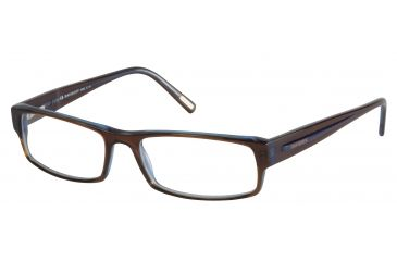 Davidoff 91012 Single Vision Prescription Eyeglasses - Brown Frame and Clear Lens 91012-6127SV