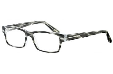 Davidoff 91021 Single Vision Prescription Eyeglasses - Anthracite Frame and Clear Lens 91021-6050SV