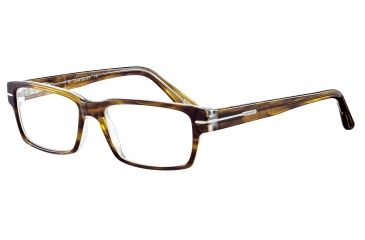 Davidoff 91021 Single Vision Prescription Eyeglasses - Brown Frame and Clear Lens 91021-6338SV