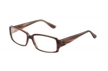 Davidoff 91500 Progressive Prescription Eyeglasses - Brown Frame and Clear Lens 91500-6461PR