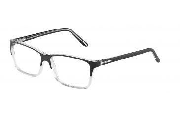 Davidoff 92008 Bifocal Prescription Eyeglasses - Black Frame and Clear Lens 92008-8738BI