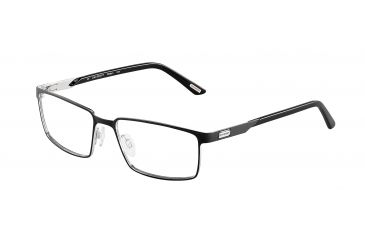 Davidoff 95107 Progressive Prescription Eyeglasses - Black Frame and Clear Lens 95107-610PR