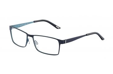 Davidoff 95110 Single Vision Prescription Eyeglasses - Blue Frame and Clear Lens 95110-609SV