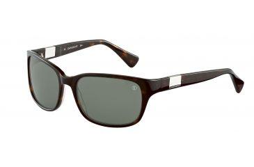 Davidoff No. 97118 Sunglasses - Brown Frame and Green Lens 97118-8940