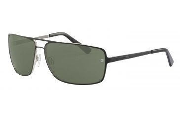 Davidoff 97325 Bifocal Prescription Sunglasses - Black Frame and Grey Green Lens 97325-560BI