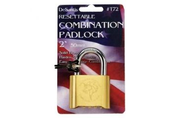 "DeSantis 2"" Combination Lock - Solid Brass T72ZZ02Z0"