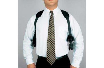DeSantis Ambidextrous - Black - Patriot Shoulder Rig w/ Double Magazine Pouch N84BJ85L0
