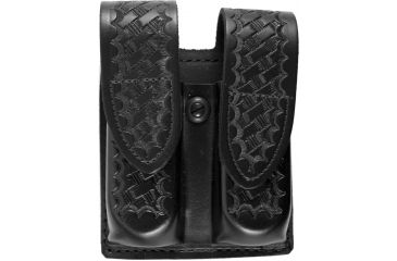 DeSantis Black - Basketweave - Double Mag Pouch - Velcro U41BLFFZ4