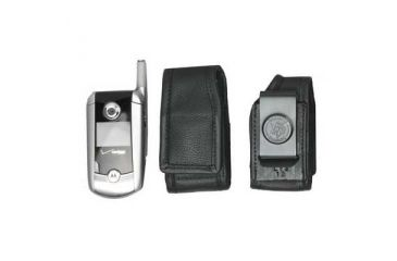 DeSantis Black - E-Z Draw Leather Cellphone Holster L13KJG1Z4
