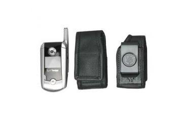 DeSantis Black - E-Z Draw Leather Cellphone Holster L13KJ18Z4