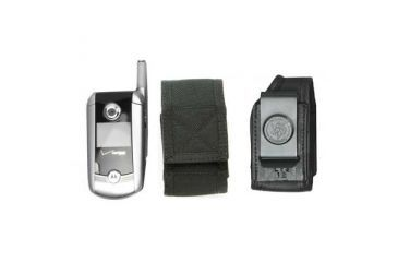 DeSantis Black - E-Z Draw Nylon Cell Phone Holster N13BJG1Z4