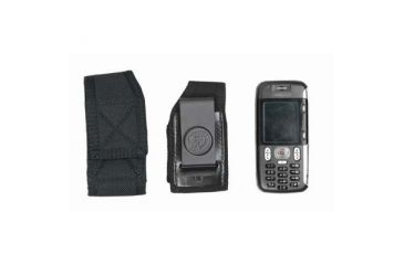DeSantis Black - Nylon Duty Cellphone Holster w/ Clip N89BJ12Z4