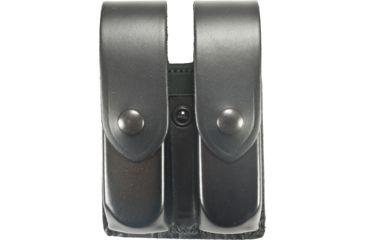 DeSantis Black - Plain - Double Mag Pouch - Black Snap U41BJJJZ3