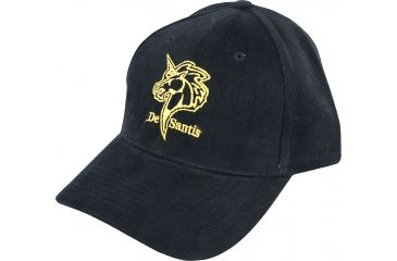 Desantis Black Promotional Hat with Yellow Logo