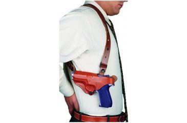 DeSantis New York Undercover Shoulder Rig for SIG P220 R - Plain Tan, Left Hand