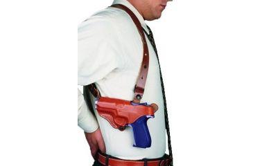 DeSantis New York Undercover Shoulder Rig for SIG P226 R - Plain Tan, Left Hand