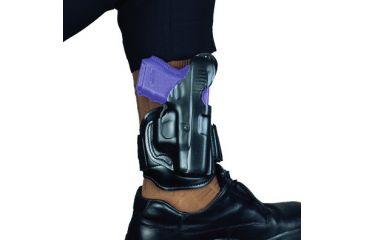 2-DeSantis Right Hand Black Leather Ankle Holster 044BA02Z0 - S&W J 36, 37, 60, 317, 331, 337, 360, 431PD 2 1/4in., M&P 360 2in.; CH/A UNDERCOVER 2in.