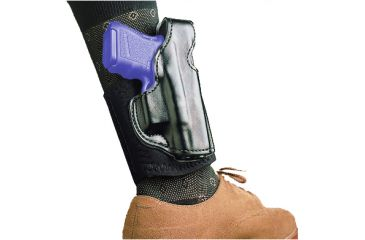 1-DeSantis Right Hand Black Lined Die Hard Ankle Rig Holster 014PCS1Z0 - S&W J 332, 340, 342, 432PD, 442, 640, 640-1, 642, M&P 340 2in.-2 1/4in.