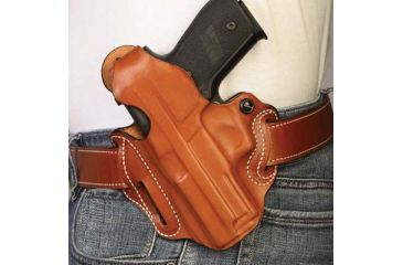 DeSantis Thumb Break Scabbard 3 Slot Holster, Left Hand, Tan, Unlined, Walther PPS 001TBN9Z0