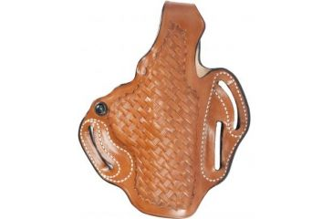 DeSantis Thumb Break Scabbard Holster - Right Hand, Tan, Basketweave, Lined, 3 Slot 001TG30Z0 - FITS FNX-9/FNX-40,