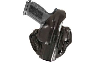 DeSantis Thumb Break Scabbard Holster - Right, Black, Unlined, Plain, 3 Slot 001BA31Z0 - FITS FN HERSTAL FNP-45 4 1/2in.
