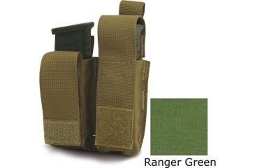 Diamondback Tactical Double Universal Pistol Mag Pouch, Ranger Green, A-BLPM08-9-RANGERGREEN