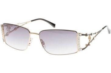 Diva 4143 Sunglasses - Black-Gold; Grey Gradient Lenses (789)