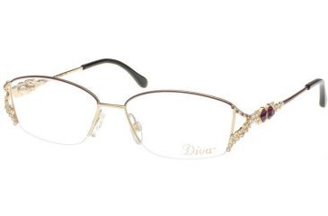 Diva 5283 Eyewear - Plum; Purple Stones (181)