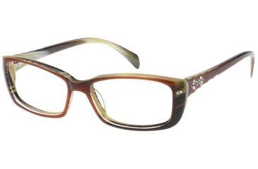 Diva 5372 Eyeglasses - Brown-Cream Horn Frame w/ Clear Lenses 5372-728
